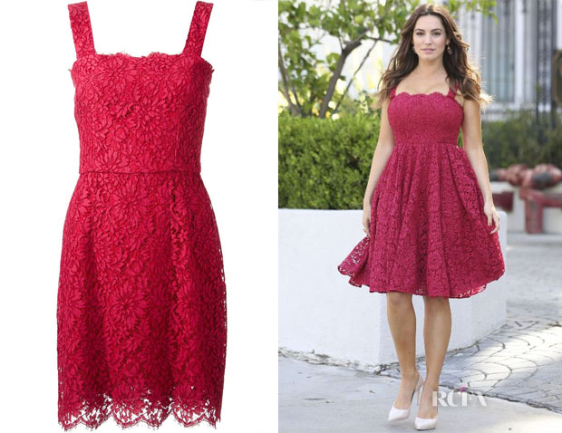 Kelly Brook's Dolce & Gabbana Lace Dress