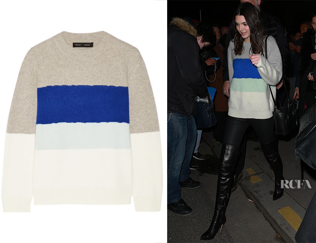 Kendall Jenner's Proenza Schouler Color-Block Cashmere Sweater