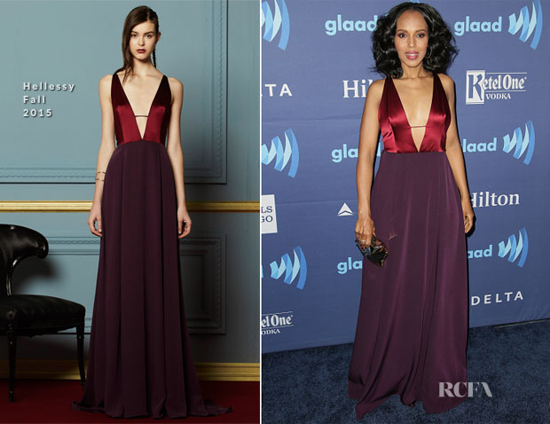 Kerry Washington In Hellessy - 26th Annual GLAAD Media Awards