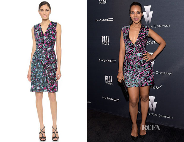 Kerry Washington's J Mendel Sequined V Neck Dress