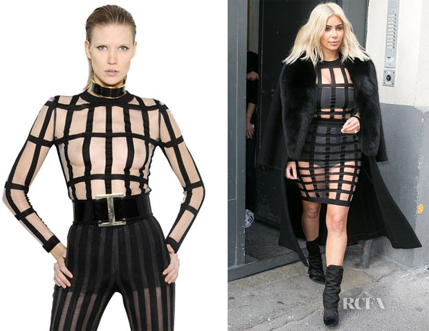 Kim Kardashian's Balmain Sheer Top