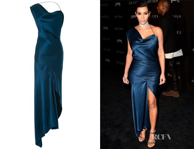 Kim Kardashian's Cushine et Ochs Double Charmeuse Nile Dress