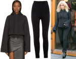 Kim Kardashian's Vetements  Black Oversized Hoodie2
