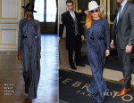 Lady Gaga In Martin Grant - Out In Paris