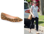 Lily Collins' Loeffler Randall Quinnie Pointed Toe Flats