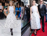 Lily James In Christian Dior - Saks Fifth Avenue 'Cinderella' Window Unveiling