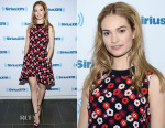 Lily James In Christian Dior - SiriusXM Studios