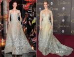 Lily James In Elie Saab Couture - 'Cinderella' LA Premiere
