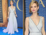 Lily James In Prada - 'Cinderella' Mexico City Premiere