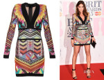 Lisa Snowdon's Balmain Tribal Knit Long-Sleeved Dress