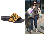 Mandy Moore's  Loeffler Randall Cat Pool Slide
