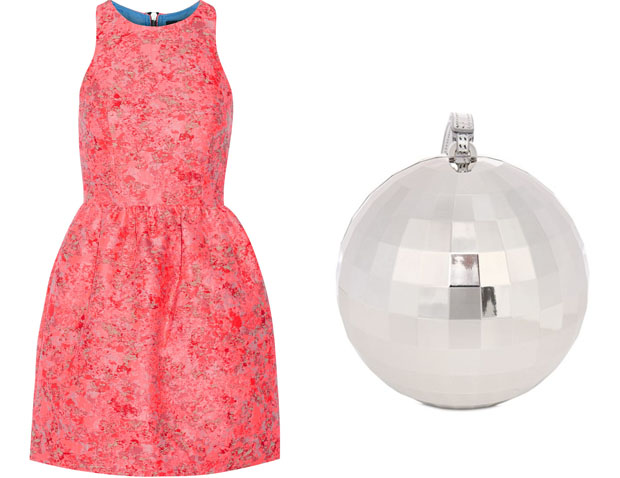 Markus Lupfer Erica Mini Dress & Lulu Guinness disco ball clutch