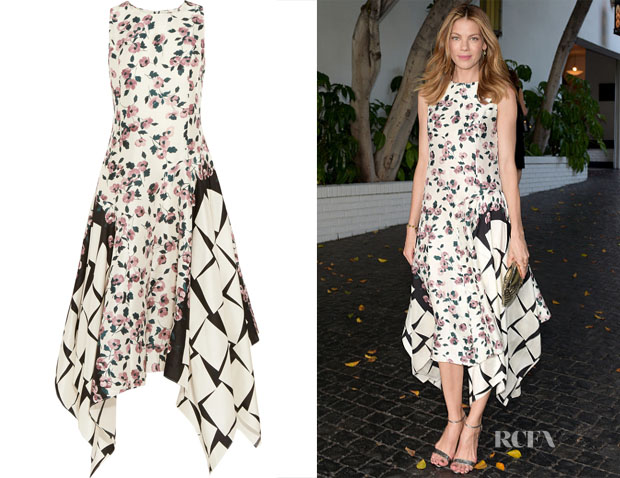 Michelle Monaghan's Suno Printed Silk Dress