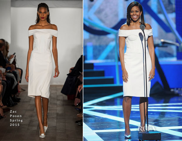 Michelle Obama In Zac Posen - BET's 'Black Girls Rock!'
