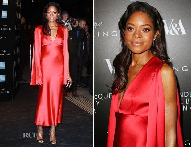 Naomie Harris In Alexander McQueen - Alexander McQueen Savage Exhibition Private View