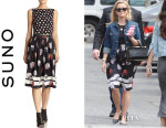 Reese Witherspoon's Suno Floral-Print Silk Skirt