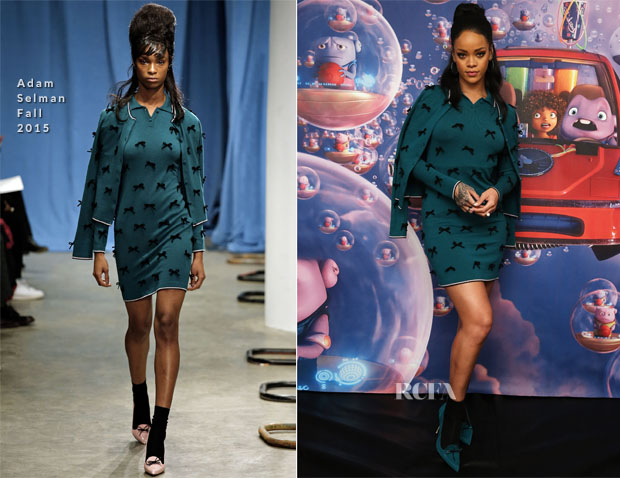 Rihanna In Adam Selman - 'Home' New York Photocall