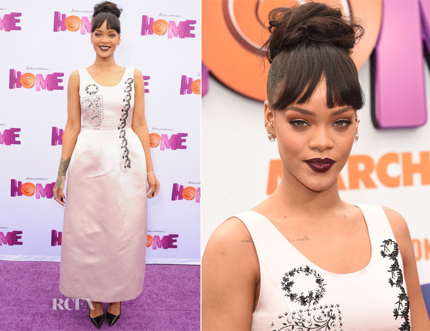 Rihanna In Christian Dior - 'Home' LA Premiere2