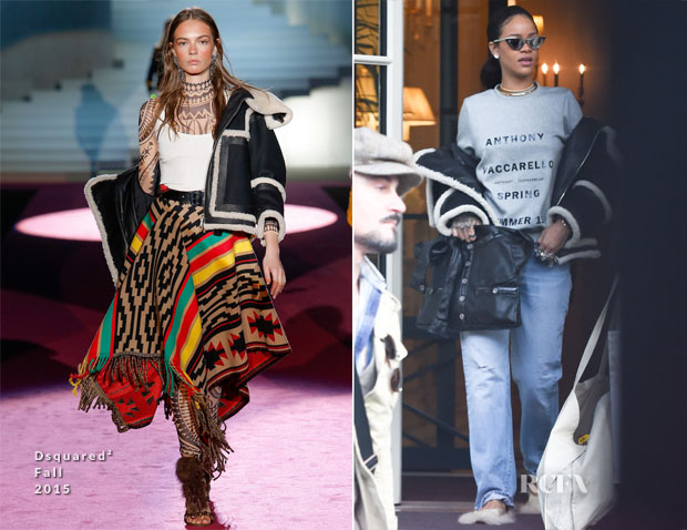 Rihanna In Dsquared² - Out In Paris