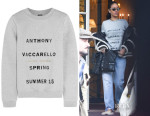 Rihanna's  Anthony Vaccarello Printed Sweatshirt