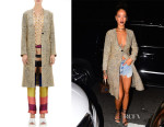 Rihanna's Dries Van Noten Jacquard Rolanda Coat