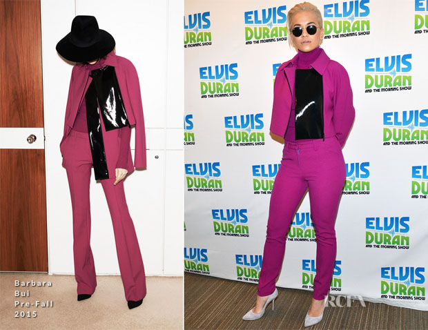 Rita Ora In Barbara Bui - The Elvis Duran Z100 Morning Show