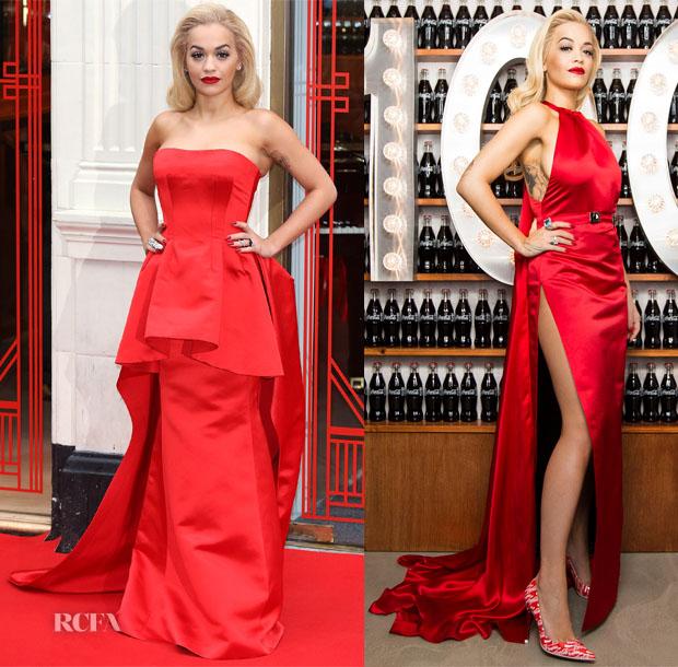 Rita Ora In Veni Vici Couture & Sorapol - Coca Cola Contour Centenary Bar Photocall