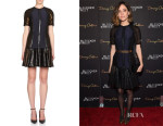 Rose Byrne's Lanvin Sequin-Panel Fit-&-Flare Dress