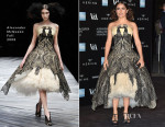 Salma Hayek In Alexander McQueen - Alexander McQueen: Savage Beauty Exhibition Private View