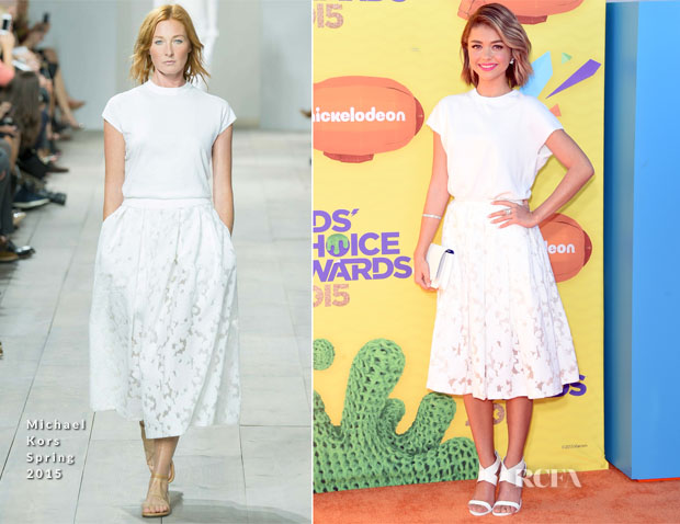Sarah Hyland In Michael Kors - 2015 Nickelodeon Kids' Choice Awards