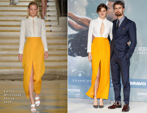 Shailene Woodley In Emilia Wickstead -  'Insurgent' Berlin Premiere