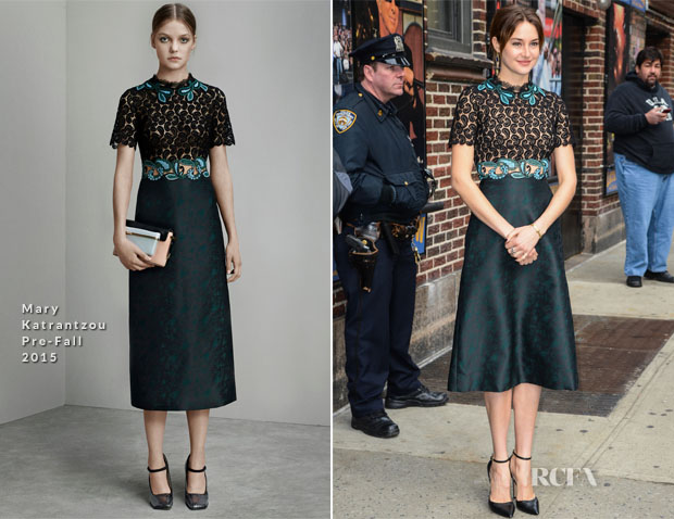 Shailene Woodley In Mary Katrantzou - Late Show With David Letterman