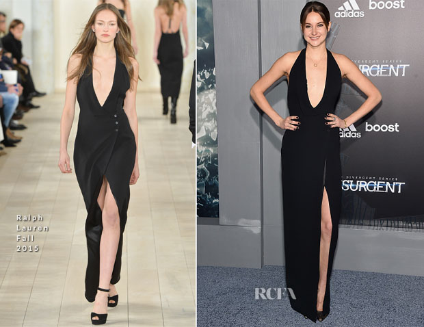 Shailene Woodley In Ralph Lauren - 'Insurgent' New York Premiere