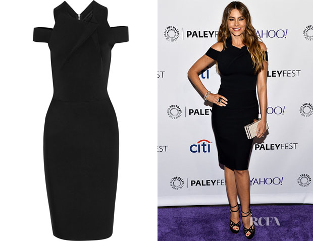Sofia Vergara's Roland Mouret Swangrove stretch-jersey dress