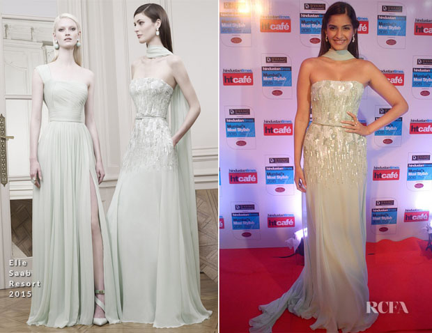 Sonam Kapoor In Elie Saab - 2015 Hindustan Times Mumbai's Most Stylish Awards