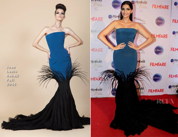 Sonam Kapoor In Jean Louis Sabaji - 2015 Filmfare Awards