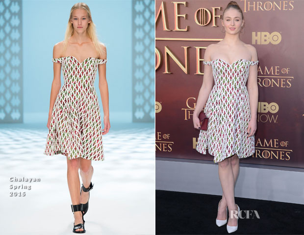 Sophie Turner In Chalayan - 'Game of Thrones' Season 5 Premiere