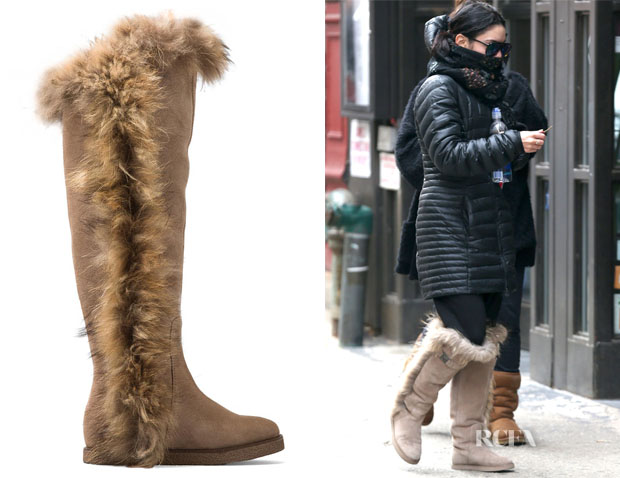 Vanessa Hudgens' Koolaburra Sasha II Knee-High Fur Boots