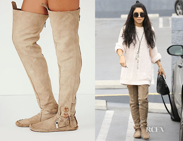 Vanessa  Hudgens' Teaspoon Moccasins