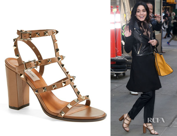 Vanessa Hudgens' Valentino 'Rockstud' T-Strap Sandals