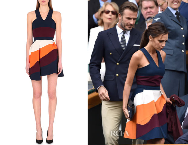 Victoria Beckham's Victoria Beckham Stripe Panel Dress