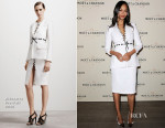 Zoe Saldana In Altuzarra - Moet & Chandon's Celebration of Roger Federer's 1,000th Career Match