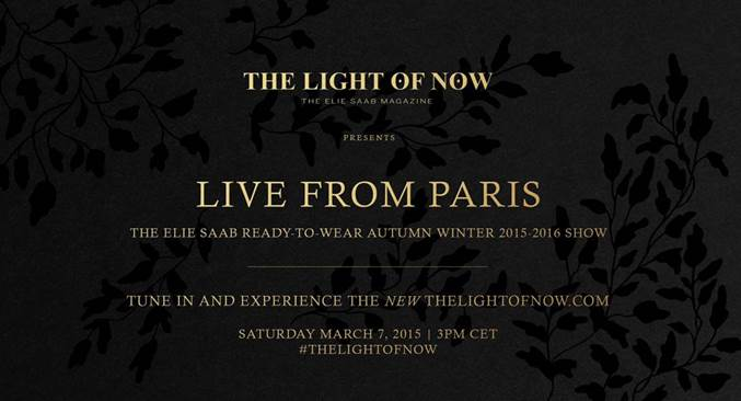 Live Stream: Elie Saab Fall 2015
