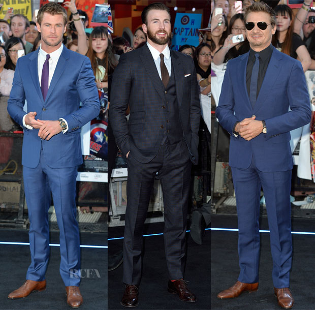 'The Avengers Age Of Ultron' London Premiere Menswear Red Carpet Roundup