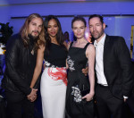 Zoe Saldana in Roland Mouret and Kate Bosworth in Prabal Gurung