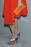 Lake Bell in Dior with Louboutin shoes