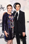 Lena Dunham in Mary Katrantzou and Rachel Weisz in Givenchy