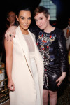 Kim Kardashian in Narciso Rodriguez and Lena Dunham in Mary Katrantzou