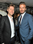 Christopher Bailey and David Beckham