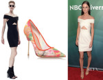 Alexandra Park's Solace London 'Moss' Bodycon Dress And Kurt Geiger London 'Britton' Pumps